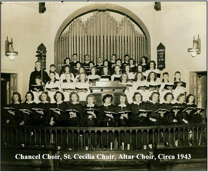 Chancel Choir, St. Cecilia Choir, Altar Choir, Circa 1943