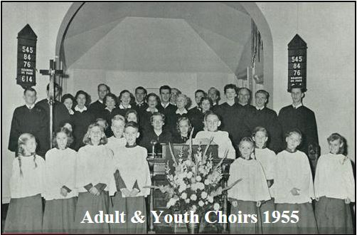 Adult & Youth Choirs 1955